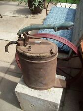 Vintage Antique Alemite Grease Pump Can Lubster Brass Handle