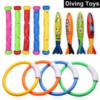 12x enfants piscine jouets plongée jeu balles de bain anneau de bain poupées