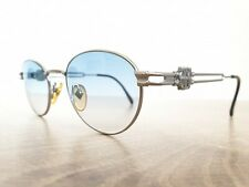 Vintage JEAN PAUL GAULTIER 57-5102 Silver Blue Gradient Sunglasses Made in Japan