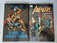 2 HC GN lot: Marvel Avengers Prime & Thor If Asgard Should Perish ~ New Sealed