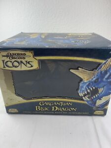 DUNGEONS & DRAGONS Icons GARGANTUAN BLUE DRAGON - w/ BOX - Limited Edition - D&D