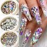 1 Box Glitter 3D Rhinestones AB Flat Back Stones Nail Art Decor Gems Mixed Size