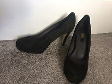 ASOS Beautiful Women Real Suede Black High Heels Court Shoes 5 UK 38 EU