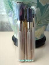 4pc Estee Lauder Gold Brush Set ~Powder Blush Eye Lip~