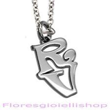 Collana con ciondolo 2 lettere iniziali a scelta personalizzata argento 925