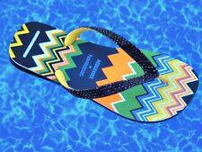 MISSONI Havaianas Flip Flop Rainbow Black ZigZag Swarovski Crystal Bz 37/38 Shoe