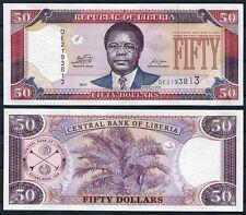 LIBERIA 50 Dolares dolares 2011 Pick 29e  SC / UNC