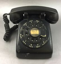 Vintage Black Rotary Phone Western Electric #1 Bell Systems Marked 1958