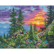 Dimensions Gold Collection Counted Cross Stitch Kit Sunset Mountain Trail NEW