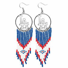 MLB Authentic Los Angeles Dodgers Dreamcatcher Earrings made by Little Earth NIB