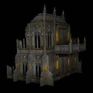 Warhammer 40k Terrain Ruins imperial gothic themed AOS wargaming scenery