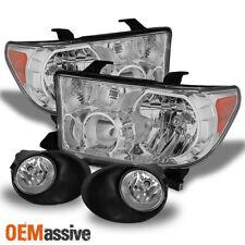 Fits 07-13 Tundra Headlights+ Bumper Fog Lights Lamps W/Switch+Bulbs 2007-2013
