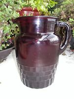 Antique Depression Era Anchor Royal Ruby Windsor 64 Ounce Pitcher