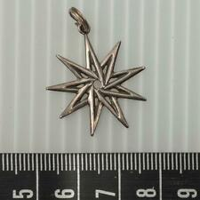 Sterling Silver Nine Sided Star Wicca Pagan Magick Pendant Vtg itm