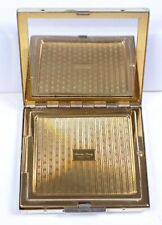 "Vintage Ladies American Beauty Silvertone Cosmetic Powder Compact 2.75""Sq"