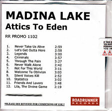 MADINA LAKE Attics To Eden 2009 UK 12-track watermarked & numbered promo test CD