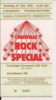 MANFRED MANN'S EARTHBAND & Colloseum II Ticket Ludwigshafen 27.12.75 (Festival)