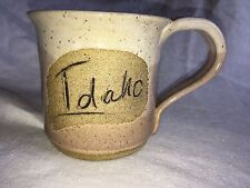 State Idaho Mug Handmade Wheel Thrown Stoneware Pottery Coffee Cup