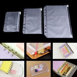 A5/A6/A7 Waterproof Clear Zipper Bag File Folder Pocket Office Pouch Organizer