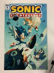 IDW SONIC THE HEDGEHOG #1 RI-A COVER : NM CONDITION : VERY RARE!