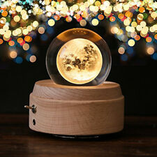 80mm Moon Glass Crystal Ball Photography Props Kids Astronomy Science Toy