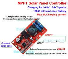 Módulo Cargador Y Batería De Litio 3S Controlador MPPT Panel Solar LED de alimentación