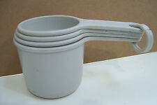 Plastic Kitchen Measuring Cups Set Of Four On Ring