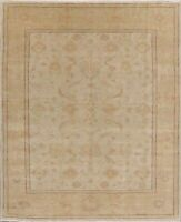 Vegetable Dye Antique Look Ushak Rug Hand-Knotted Wool Oriental Carpet 6 x 11