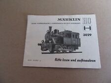 349L Vintage Märklin Catalogue 20 Pages pour Locomotive 3029 Ho