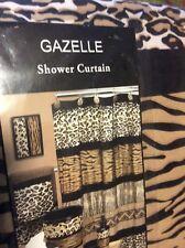 """Popular Bath Gazelle Animal Print Bathroom Shower Curtain 70""""x72"""""""