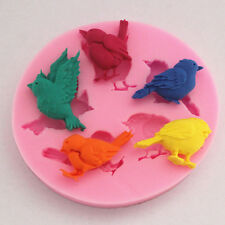 Silicone Cake Mold New Design 1PC 3D 5 Birds Cute Bird Chocolate Soap Mold Tools