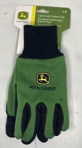 NWT John Deere Light-Duty Cotton Grip Gloves Gardening Gloves - Youth KIDS SIZE