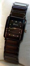 NEW Geneva 2880 Womens Black Rectangle Three Hand Fashion Fun Sleek Pretty Watch