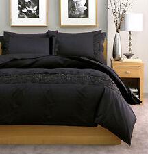 Linen House Yoshi Black QUEEN Quilt Cover Set and European pillowcases
