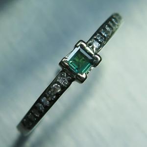 Natural Alexandrite &diamond Silver/ 9ct 14k 18k / Platinum Gold engagement ring