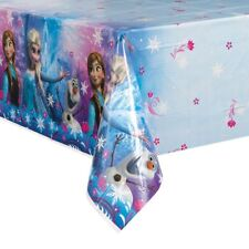 "Disney Frozen Tablecloth 84"" x 54"" Plastic Birthday Party Table Cover Tableware"