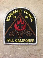 VINTAGE WINNEBAGO COUNCIL 1987 FALL CAMPOREE  BSA PATCH