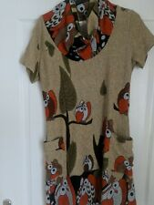 Ladies altunic owl pattern