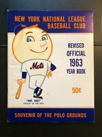 NEW YORK METS 1963 Revised Official Year Book