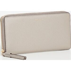 Tory Burch NWT Perry Grey/Taupe Leather Continental Wallet