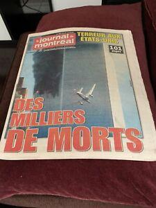 World Trace center 2001 Journal De Montreal