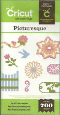 CRICUT *PICTURESQUE* CARTRIDGE *FLOWERS FLOURISHES TAGS CORNERS CARDS DECOR* NEW