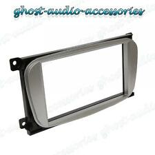Ford Focus Silver Double DIN CD Radio Plate Stereo Facia Fascia Adaptor Panel