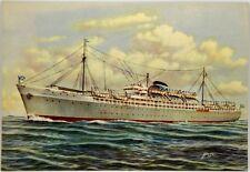 "Cartolina Marina - Transatlantici ""Corrientes"", ""Salta"" Agenzie Marittime Argent"