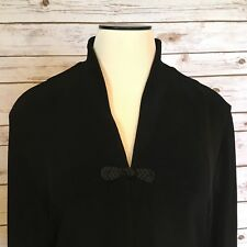 COLDWATER CREEK Travel Knit Jacket Womens M Classic Black Holiday Cardigan  NWT