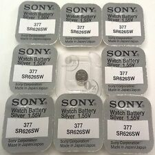 Sony Watch Batteries x10 Made Cell Button Silver-Oxide 1.55v-377 SR626SW AG-4