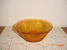 "INDIANA GLASS TIARA SANDWICH GLASS ""AMBER"" 8 1/2"" VEGETABLE BOWL/CLEARANCE!"