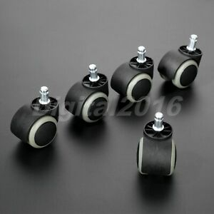 """1/5pcs 2"""" Office Chair Caster Wheel Replacement Roller Heavy Duty Floor Protect"""