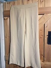 """Caramel Coloured Trousers By Halfon Italy Waist 30"""" Approx Size 10 Leg 28"""" Wide"""