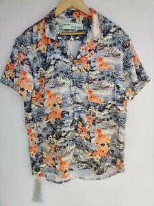 NEW Off-white c/o Virgil Abloh Shirt (S) Hawaiian Rayon AS-IS